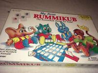 My First RUMMIKUB Matching Numbers Animal Kids Pressman Game,Complete EUC