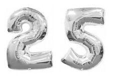 Number 25 Balloons 25th Silver Wedding Anniversary Birthday Celebration Party