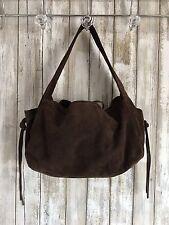 INTERMIX Italy Brown Suede Shoulder Bag * Fringe Handbag RARE!