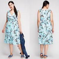 Lane Bryant SURPLICE SMOCKED WAIST DRESS Plus Size 14/16 18/20