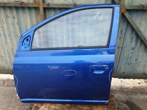 Toyota Yaris 5DR 2003 Front Passenger Side Complete Door Blue