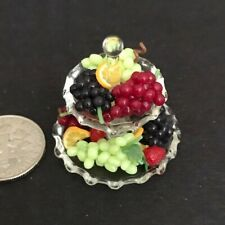 LOLA ORIGINALS MINIATURE GLASS TIERED PLATE WITH FRUIT