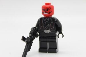 NEW Red skull - black belt + weapon 76166 LEGO Super Heroes Minifigure figure