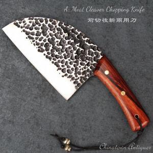 Hunters Serbian Chef Knife Steel Kitchen Knives Cleaver Slicing Knive Steel#5116