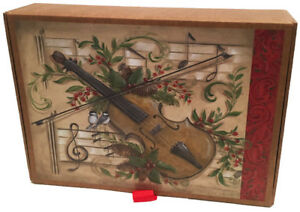 Music of Christmas Glitter with Keepsake Box - Box of 14 Christmas Cards