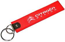 Citroen Racing Red Key Ring Fob Holder New Genuine AMC105577