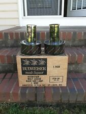 1971 Anheuser Busch Budweiser Malt Liquor BarBack Lamp Sconce Pair Light up Sign