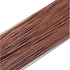 50PCS Brown #26 Paper Covered Wire DIY Nylon Stocking Flower Making