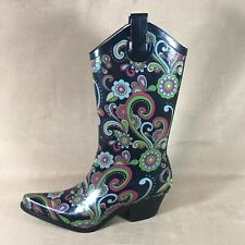 Western Chief Women's   Tall  Floral Printed Rain Boot US Size 7