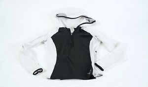 North Face Flight series hooded jacket womens small white black
