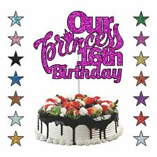 Princess Birthday Cake Topper Personalised Birthday Girls Cake Topper Any Age UK