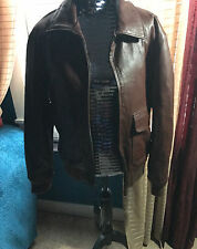 United Face New York Brown Leather Jacket Sz M      NWT