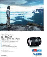 Publicité Advertising  038  2016   objectif appareil   photo Tamron  Esa  award