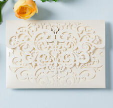 50pcs Personalized Laser Cut Wedding Invitations Card Kit for Quinceanera Party