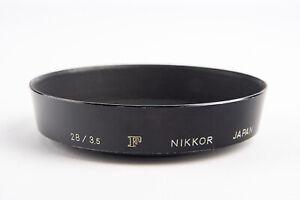 Nikon F Nikkor 28mm f/3.5 Lens Metal Screw On Lens Hood Shade ONLY V10