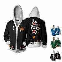 The Legend of Zelda Triforce Link Cosplay Costume Hot Hoodie Jacket Sweatshirt