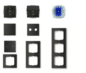 Busch Jäger Rahmen Schalter Steckdose etc. future® linear schwarz matt - Auswahl