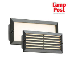 Knightsbridge LED Bricklight Outdoor Brick Wall Light Steel Black Fascia Ip54 BLED5BW