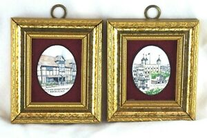 William Shakespeare's Birth Place Vitreous Enameling Pat Collins Collectables