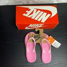 New With Box Nike Solay Thong Kids Girls 11C Light Pink Sandals Flip Flops