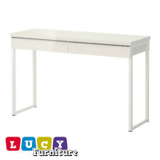 IKEA BESTA BURS OFFICE DESK with 2 drawers in White