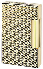 S.T. Dupont Ligne 2, Yellow Gold Fire Head Lighter, 16433 (016433), New In Box