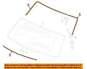 HONDA OEM 15-16 Fit Liftgate Tailgate-Glass Molding 73127TY0000