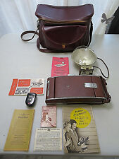 Polaroid LAND CAMERA Model 95A VINTAGE Comes With Case + Accessories