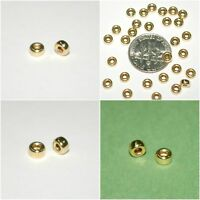 WHOLESALE LOTS 14kt Gold Filled Rondelle Spacer Beads 4mm and 5mm
