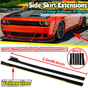For Dodge Challenger Scat Pack SRT R/T 86.6'' Side Skirt Extension Rocker Panel