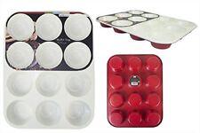 12 Deep Cup Non Stick Ceramic Muffin Fairy Cake Tray Tin non-stick Bakeware