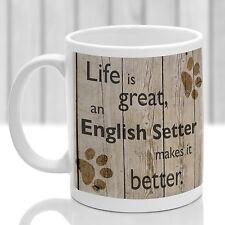English Setter dog mug, English Setter gift, ideal present for dog lover