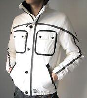 Gio-Goi Vega Men's White Black Soft Shell Windproof Insulated Designer Jacket M