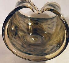 MURANO Vetro Eseguito Secondo La Tecnica Dei Maestri Di Art Glass Amber Basket