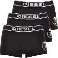 DIESEL Men's Essential Cotton Stretch 3-Pack Boxer Trunk UBMX SHAUN, 3 x Black