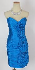 Terani Turquoise Short Gown Prom Formal Evening Dress New $300 Cruise Size 6