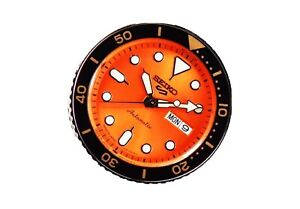 Seiko 5 Sports SRPD59 SRPD59K1 Orange Stainless Steel Automatic Mens Watch