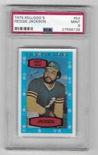 1975 Kellogg's #54 Reggie Jackson PSA MINT 9 Oakland Athletics