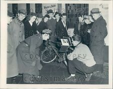1948 Berlin Citizens Listen to Election Returns on Radio Germany Press Photo