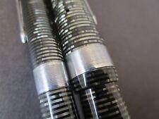 """Parker Vacumatic Maxima RARE """"Stacked Coin"""" Fountain Pen & Pencil Set (CL169)"""