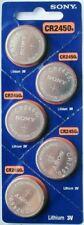 10PC SONY CR2450 2450 Lithium Battery 3V 600 mAh