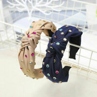 Women's Tie Headband Hairband Twist Crystal Knot Hair Band Hoop Hair Accessories