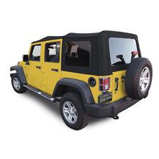 Jeep Wrangler 4DR JK Soft Top, 2007-09, Press Polish Windows, Black Canvas