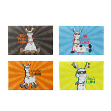 Set of 4 Rectangle Llama Placemats Breakfast Dinner Serving Table Tabletop Mats
