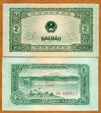 Vietnam, 2 Hao, 1958, Pick 69, UNC
