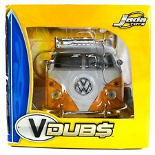 Jada Toys Diecast 1/24 VW Van Bus Pickup Orange White 53045 Volkswagen VDubs