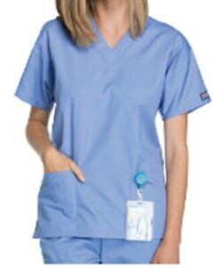 Unisex V-Neck Top Medical Scrubs Cherokee XS