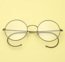 Exquisit 44mm Round Grey wire temple Eyeglass frames Eyewear Vintage glasses