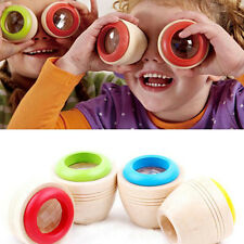 Wooden Educational Magic Kaleidoscope Baby Kid Children Learning Puzzle Toy Hot