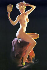SALE  REDUCED Canvas Giclee PERFECTION pinup ELVGREN pin-up ART DECO  NUDE